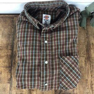 Dickies Workwear Flannel Shirt Men's XL